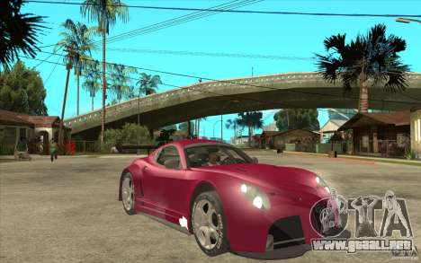 Alfa Romeo 8C GT3 RSX para GTA San Andreas vista hacia atrás