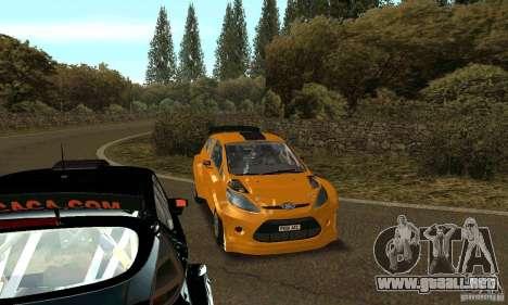 Ford Fiesta Rally para GTA San Andreas vista hacia atrás