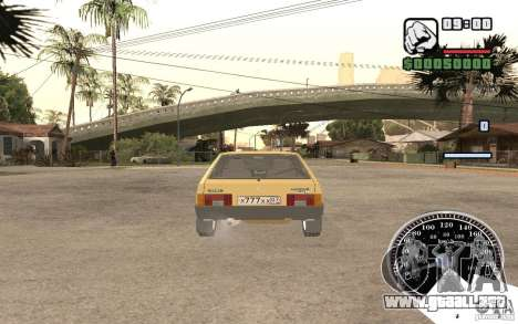 VAZ 21093i para GTA San Andreas vista hacia atrás