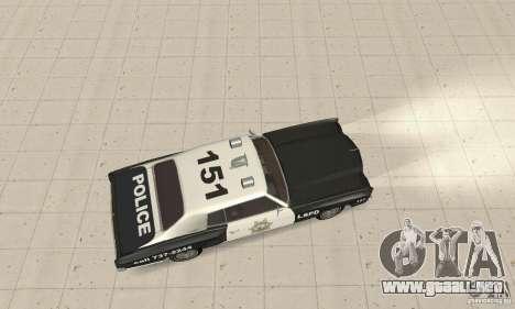 Chevrolet Monte Carlo 1970 Police para GTA San Andreas vista posterior izquierda