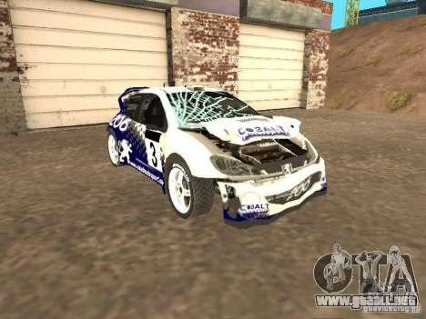 Peugeot 206 WRC de Richard Burns Rally para visión interna GTA San Andreas