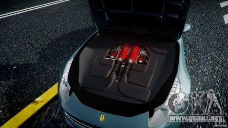 Ferrari FF 2012 para GTA 4 vista hacia atrás