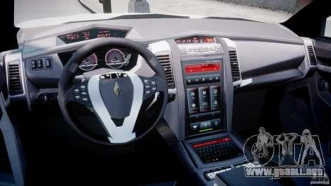 Carbon Motors E7 Concept Interceptor NYPD [ELS] para GTA 4 visión correcta