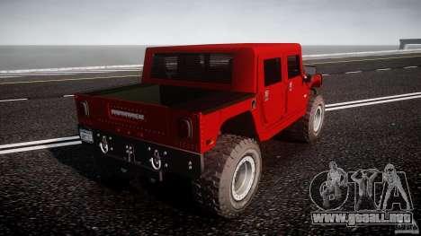 Hummer H1 4x4 OffRoad Truck v.2.0 para GTA 4 Vista posterior izquierda