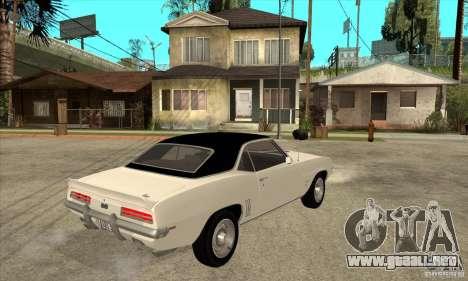 Chevrolet Camaro SS - Stock para la visión correcta GTA San Andreas