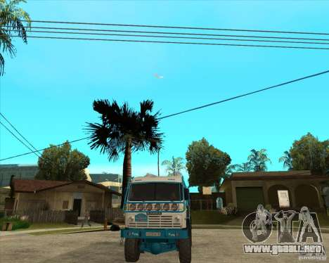 KAMAZ 4911 (2007) Rally Raid version para GTA San Andreas vista hacia atrás