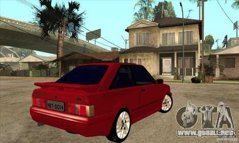 Ford Escort XR3 1992 para la visión correcta GTA San Andreas