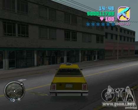 Ford Crown Victoria LTD 1985 Taxi para GTA Vice City visión correcta