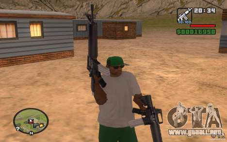 Double weapons para GTA San Andreas segunda pantalla
