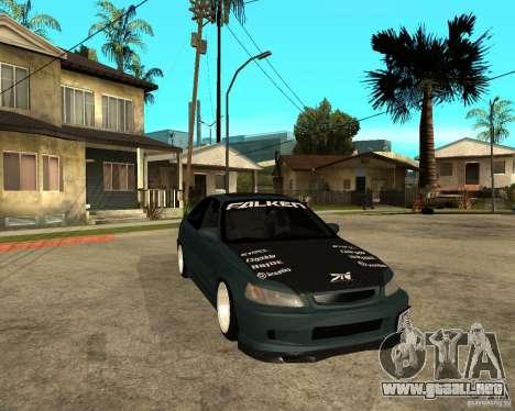 Honda Civic Coupe V-Tech para GTA San Andreas vista hacia atrás