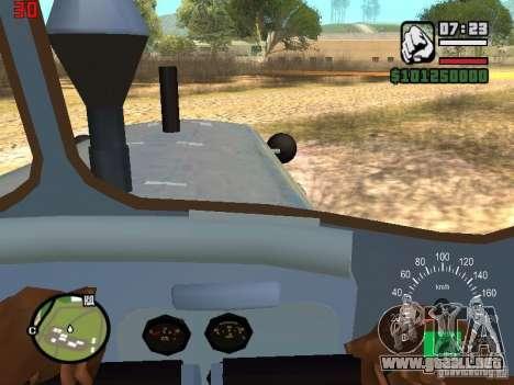 Niveladora de Kazajstán DT-75 para visión interna GTA San Andreas