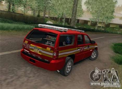 Chevrolet Suburban EMS Supervisor 862 para GTA San Andreas left