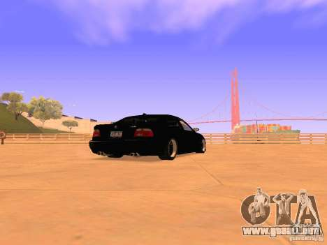 BMW M5 E39 Stanced para GTA San Andreas vista posterior izquierda