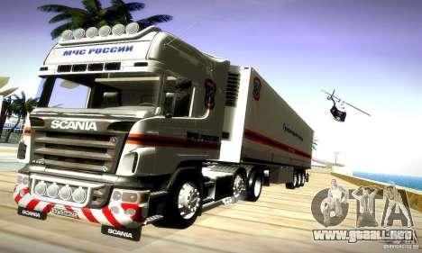 Scania R620 Emercom de Rusia para la visión correcta GTA San Andreas