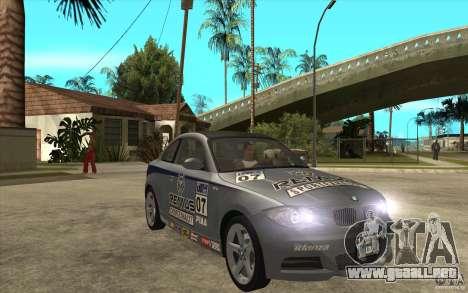 BMW 135i Coupe para visión interna GTA San Andreas