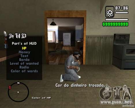 Change Hud Colors para GTA San Andreas sucesivamente de pantalla