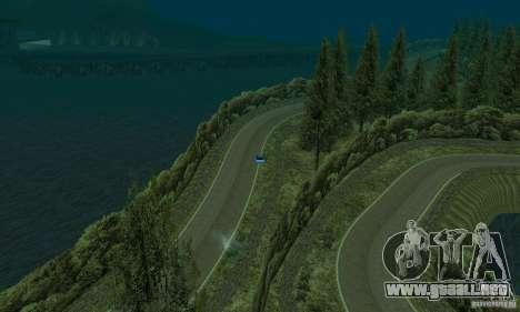 La ruta del rally para GTA San Andreas