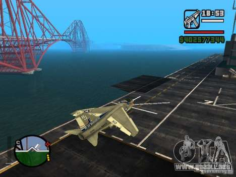 A-7 Corsair II para GTA San Andreas left
