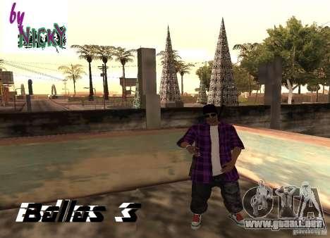 Pak pieles Ballas para GTA San Andreas tercera pantalla