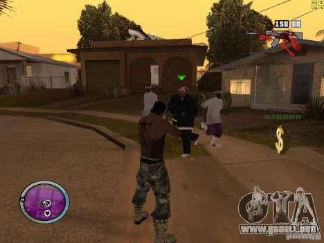 Nueva zona GANGSTER para GTA San Andreas octavo de pantalla