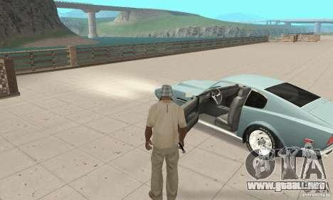 Aston Martin V8 para GTA San Andreas vista hacia atrás