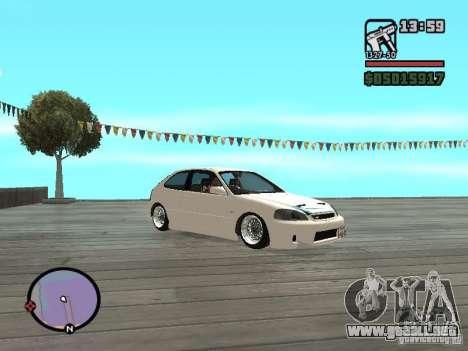 Honda Civic EK9 JDM para la visión correcta GTA San Andreas