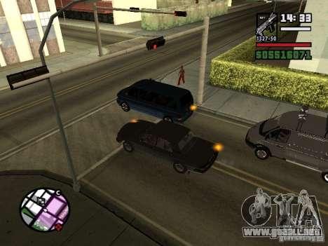 Intermitentes 2.1 para GTA San Andreas segunda pantalla
