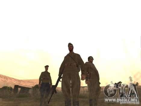 Piel de soldado soviético de II Guerra Mundial para GTA San Andreas tercera pantalla