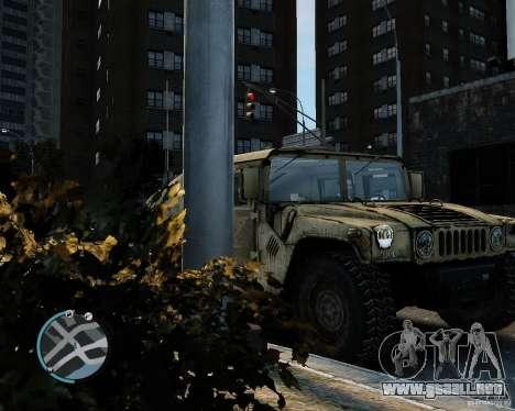 Hummer H1 para GTA 4 visión correcta