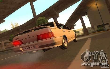 VAZ 2115 Stock v1.0 para GTA San Andreas vista hacia atrás