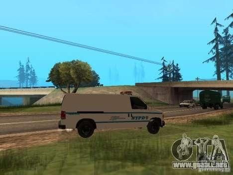 Ford E-150 NYPD Police para la visión correcta GTA San Andreas