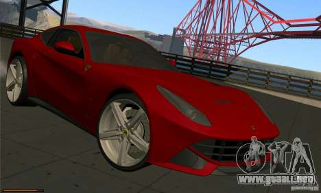 Ferrari F12 Berlinetta BETA para GTA San Andreas left