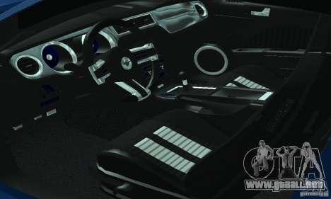 Ford Mustang Boss 302 2013 para visión interna GTA San Andreas