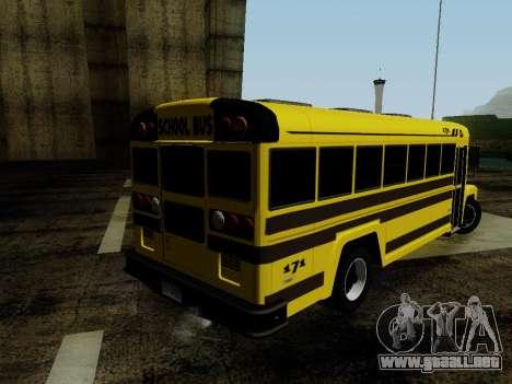 International Harvester B-Series 1959 School Bus para GTA San Andreas left