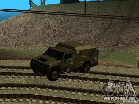 Hummer H2 Army para visión interna GTA San Andreas
