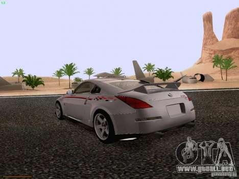 Nissan 350Z Nismo S-Tune para GTA San Andreas vista posterior izquierda