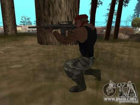 M4A1 para GTA San Andreas quinta pantalla