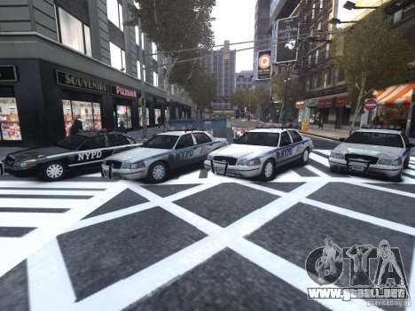Ford Crown Victoria NYPD Auxiliary para GTA 4 vista interior