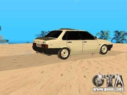 VAZ 21099 invierno para GTA San Andreas left