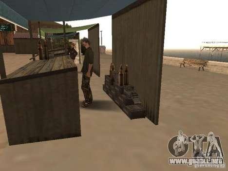 Mercado en la playa para GTA San Andreas