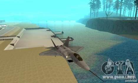 YF-22 Grey para GTA San Andreas vista hacia atrás