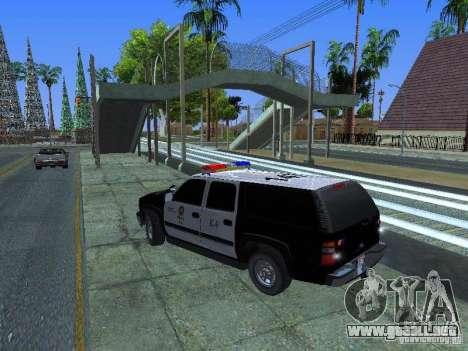Chevrolet Suburban Los Angeles Police para GTA San Andreas left
