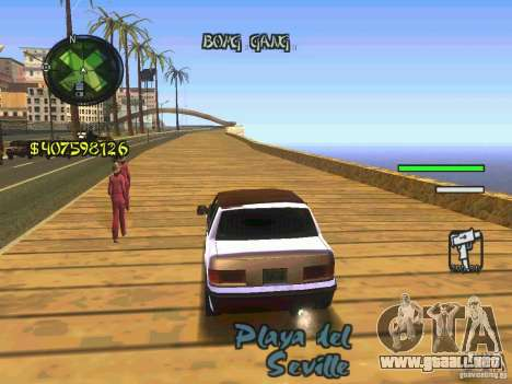 HUD Convenient and easy BETA para GTA San Andreas tercera pantalla