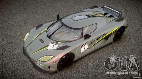 Koenigsegg Agera v1.0 [EPM] para GTA 4 interior