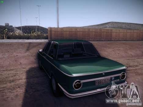 BMW 2002 1972 para GTA San Andreas vista posterior izquierda