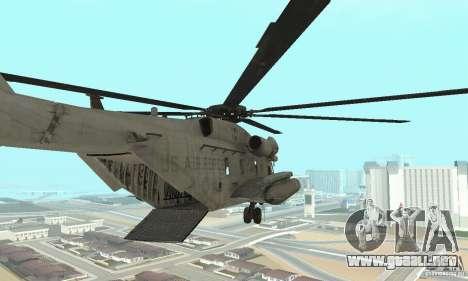 Sikorsky MH-53 para GTA San Andreas vista posterior izquierda