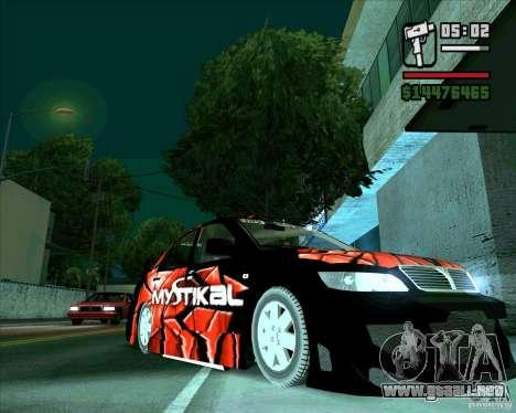 Mitsubishi Lancer E.S para GTA San Andreas vista posterior izquierda