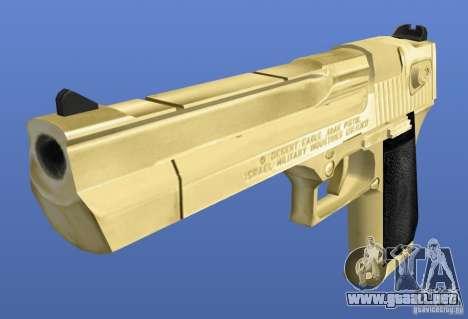Desert Eagle Retex 1.2 Gold para GTA 4 segundos de pantalla