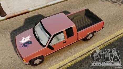 GMC Sierra 1994 para GTA 4 visión correcta