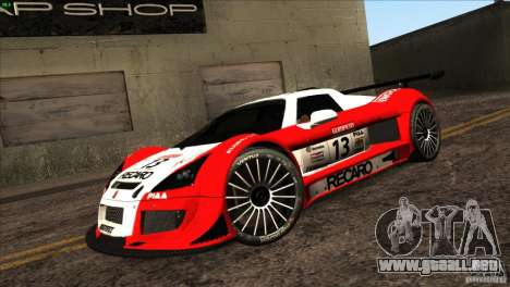 Gumpert Apollo para GTA San Andreas interior